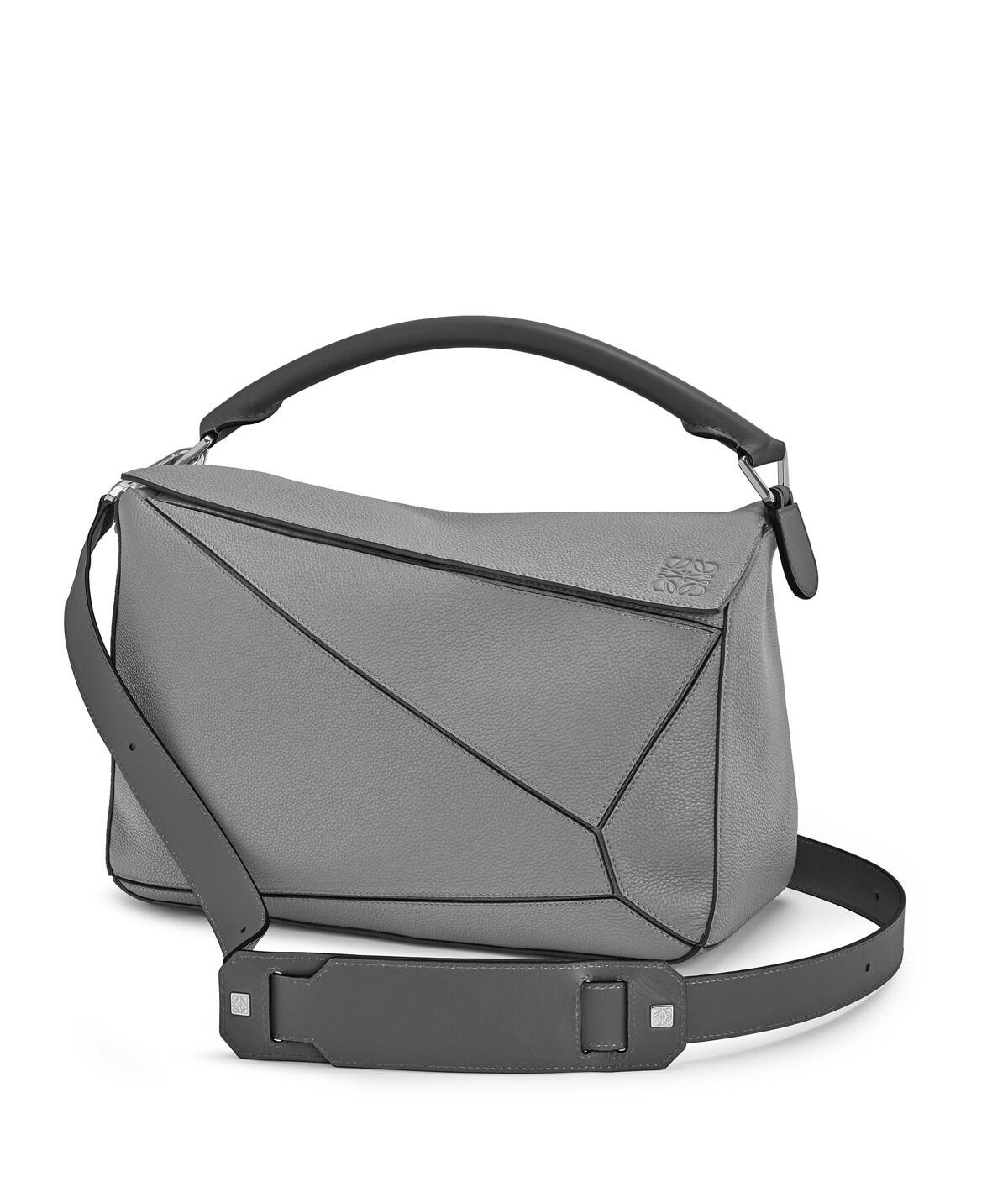 LOEWE Puzzle Large Bag 青铜色 front