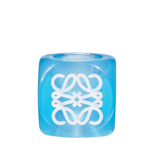 LOEWE Anagram Small Dice Blue front