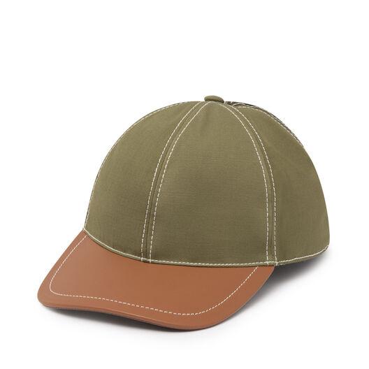 LOEWE Baseball Cap Green/Tan all