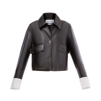LOEWE Button Jacket Black front