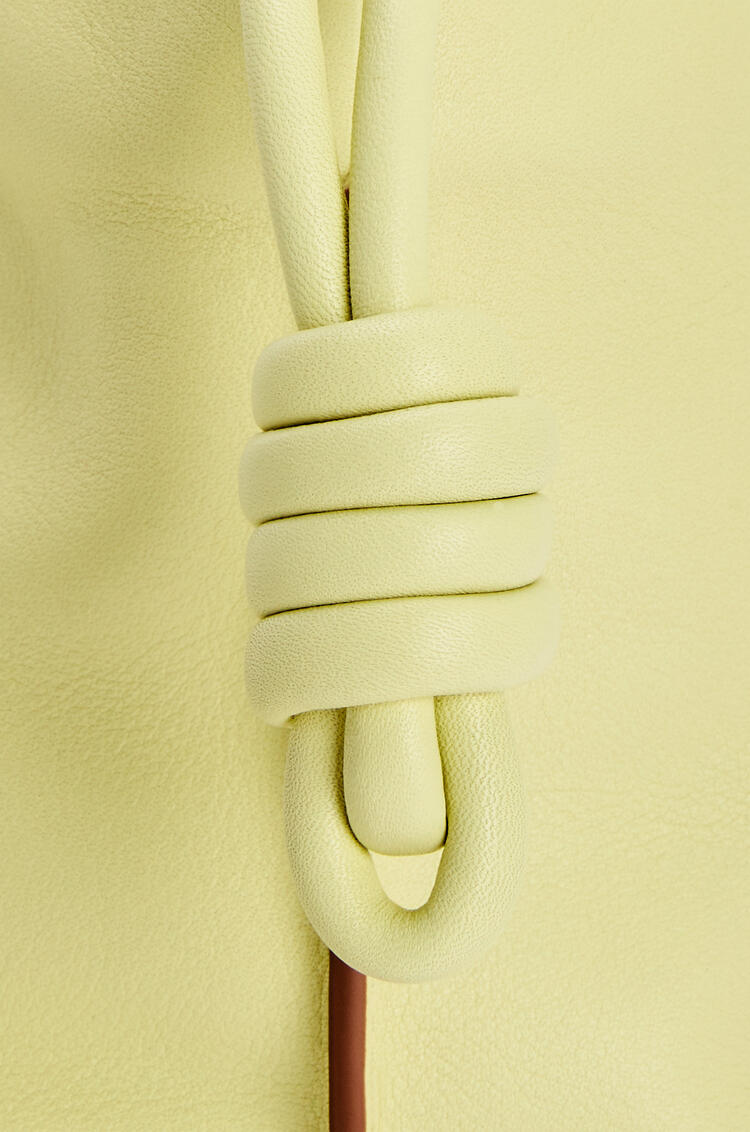 LOEWE Mini Flamenco clutch in nappa calfskin Pale Lime pdp_rd