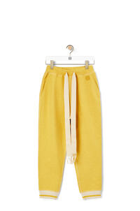LOEWE Anagram embroidered track trousers in cotton Yellow pdp_rd