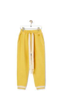 LOEWE Pantalón de chándal en algodón con Anagrama bordado Amarillo pdp_rd