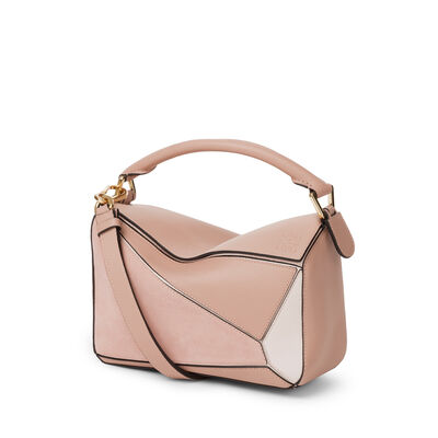 LOEWE Puzzle Small Bag Blush Multitone front