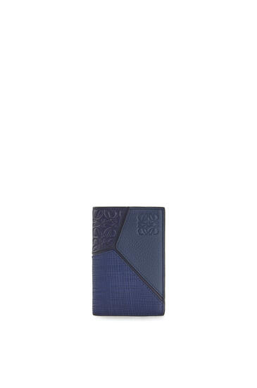 LOEWE Puzzle bifold card in calfskin Navy Blue pdp_rd