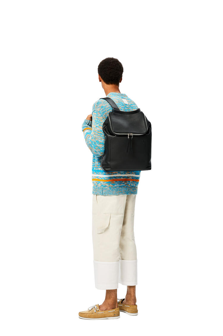 LOEWE Goya Backpack in soft grained calfskin Black pdp_rd