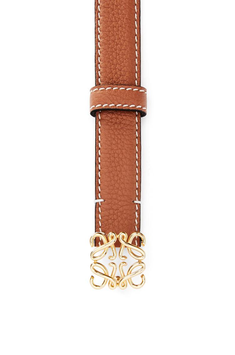 LOEWE Anagram belt in grained calfskin Tan/Gold pdp_rd