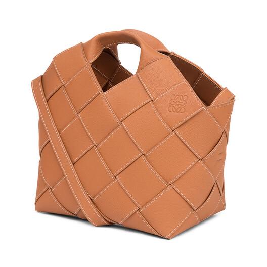 LOEWE Bolso Woven Basket Bronceado front