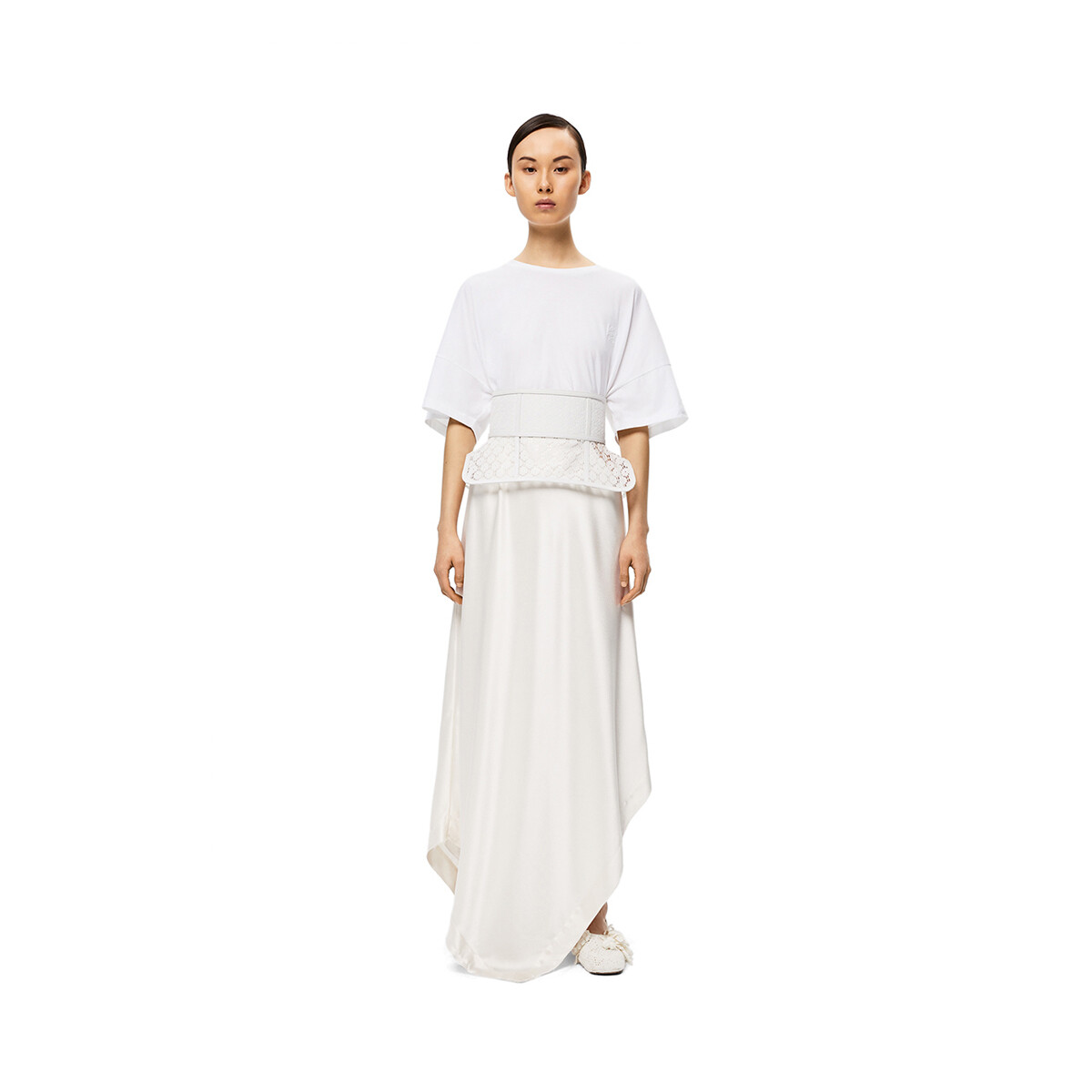 LOEWE Obi Belt Lace White front