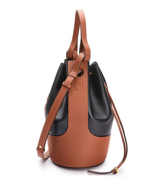 LOEWE Balloon Large Bag Black/Tan front