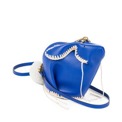 LOEWE Bunny Macrame Mini Bag Electric Blue/White front