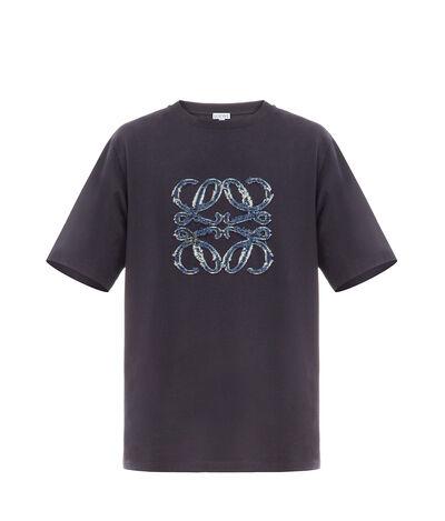 LOEWE Anagram Cut Tshirt Navy Blue front