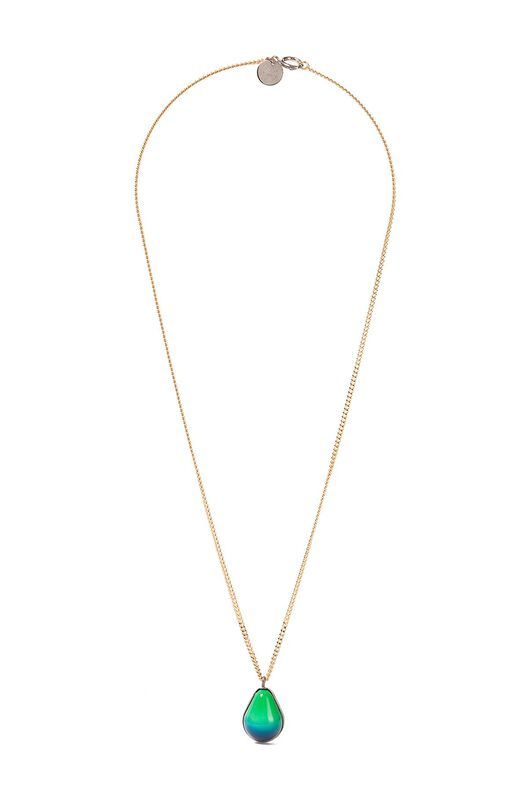 LOEWE Vermeer Necklace Palladium/Blue all