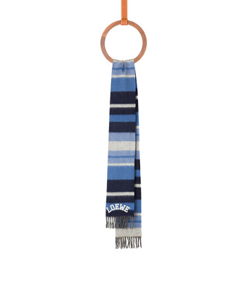 LOEWE 30X180 Scarf Stripes baby blue/white front