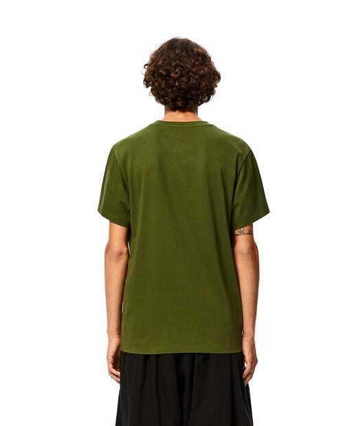 LOEWE Anagram T-Shirt Khaki Green front