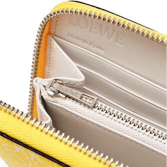 LOEWE Zip Around Wallet Yellow/White front