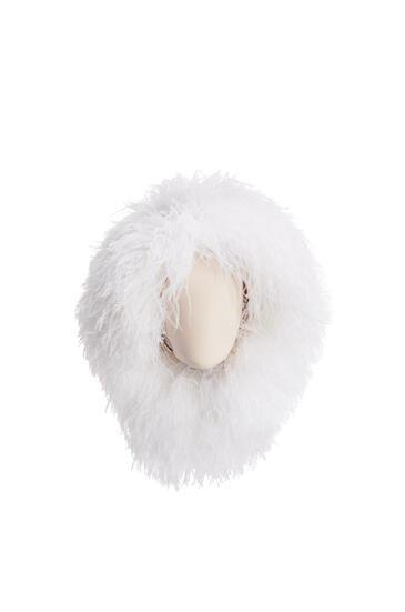 LOEWE Sombrero peluca con plumas Blanco Suave pdp_rd