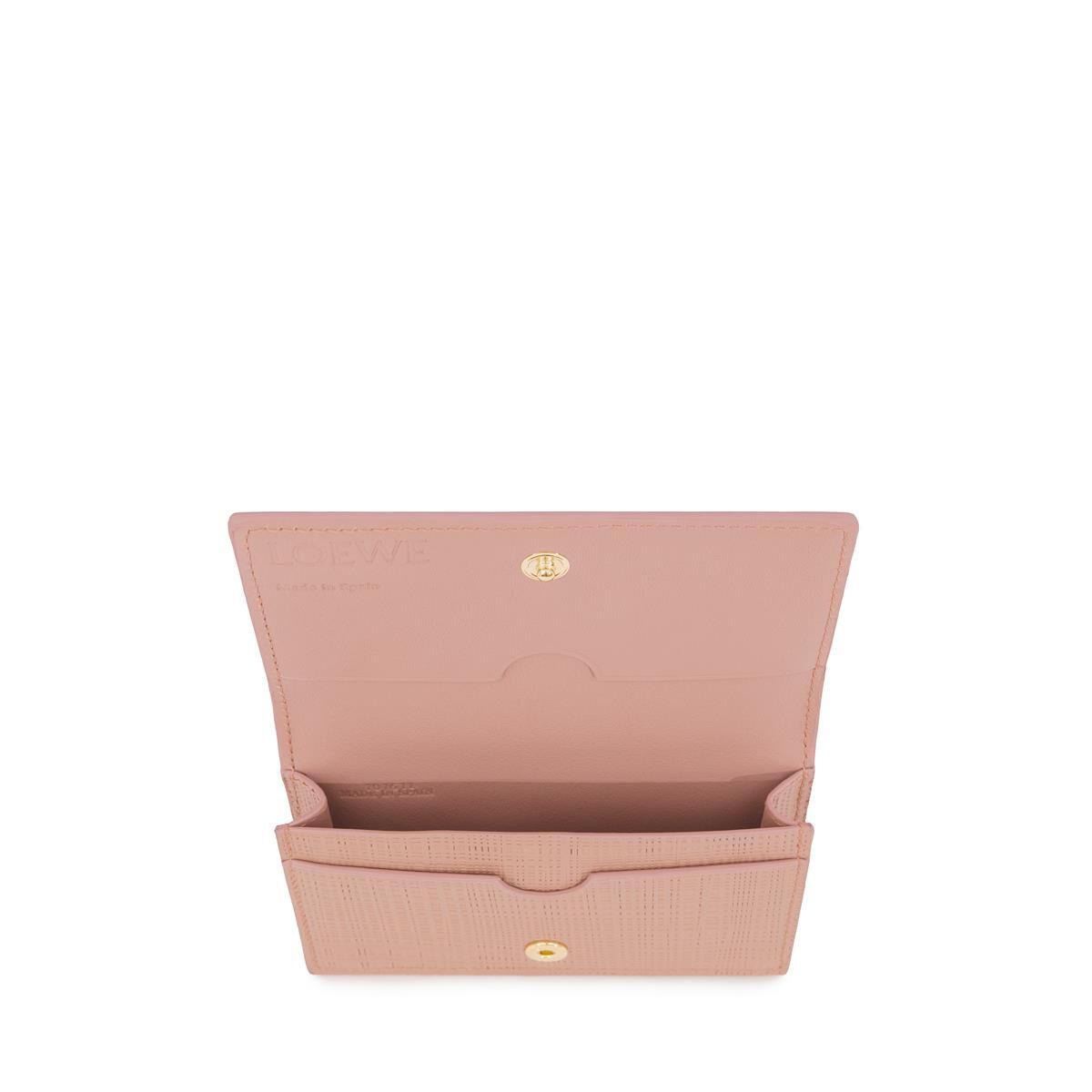 LOEWE Linen Business Cardholder Blush front