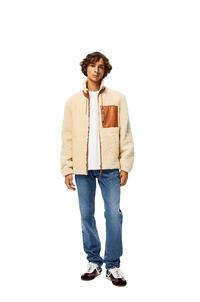 LOEWE Shearling jacket White/Camel pdp_rd