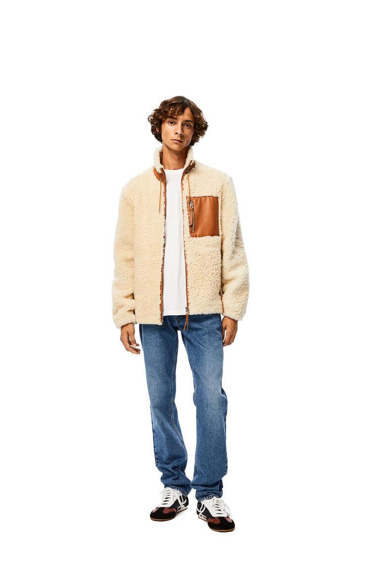 LOEWE Shearling jacket in novack White/Camel pdp_rd