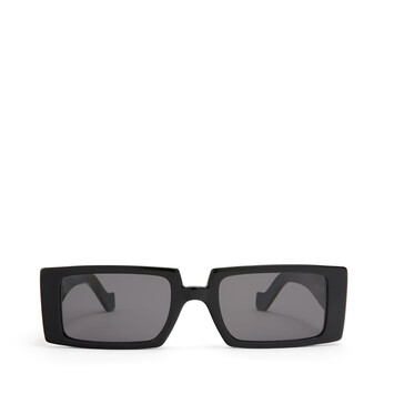 LOEWE Anagram Rectangular Sunglasses Black/Smoke front