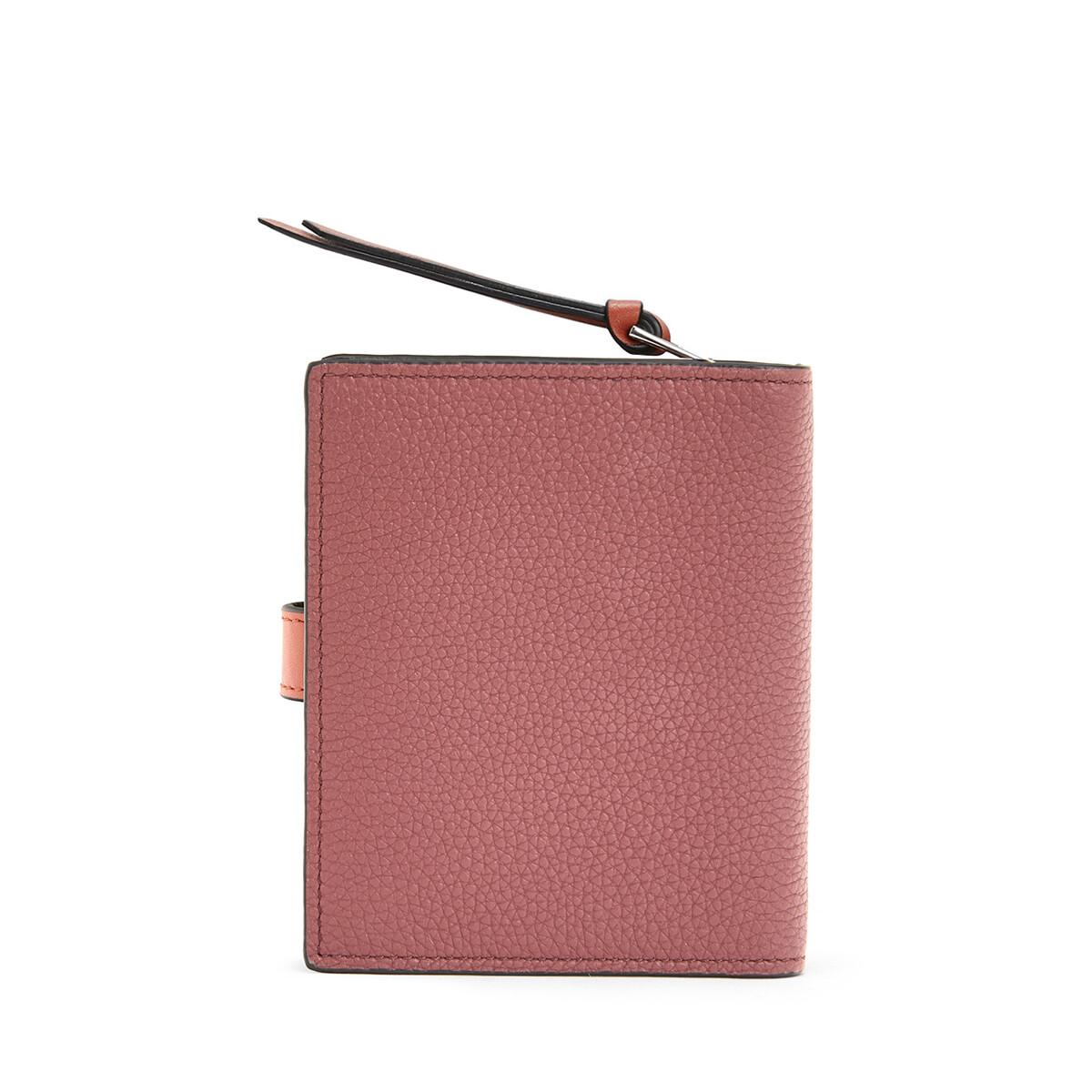 LOEWE Compact Zip Wallet Wine/Burnt Orange  front