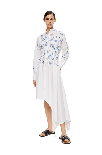 LOEWE Flower Asymmetric Shirtdress White front