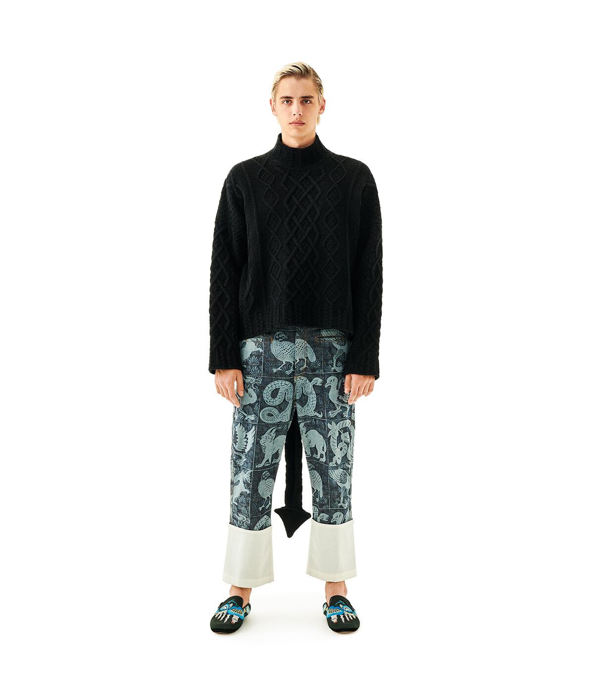LOEWE Dragon Tail Sweater Black front