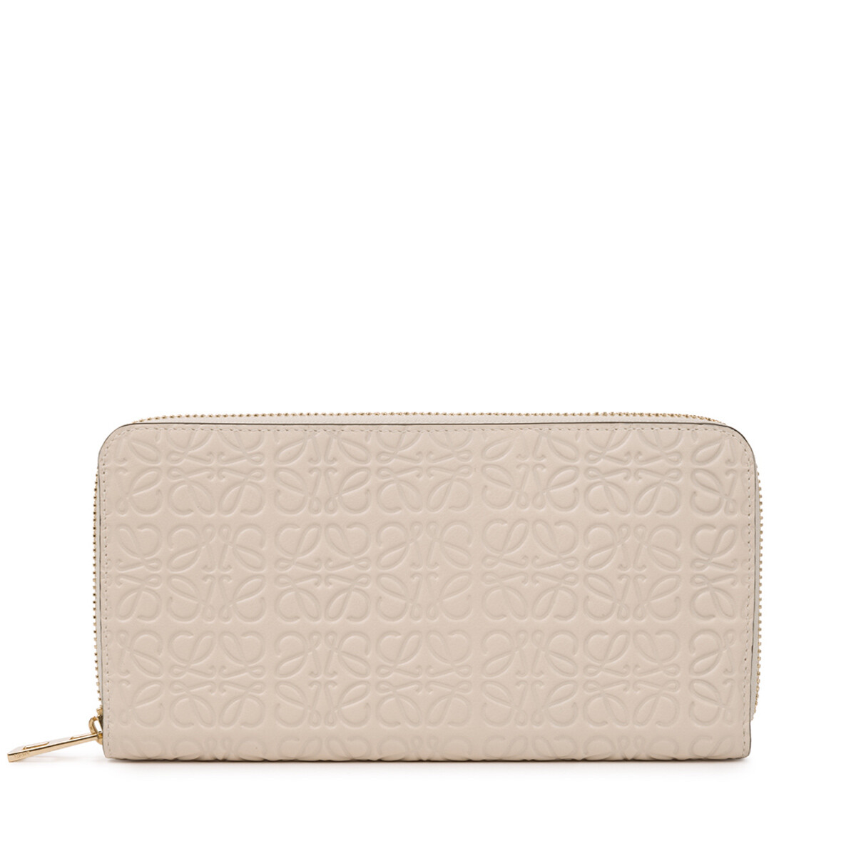 LOEWE Repeat Zip Around Wallet 乳白色 front