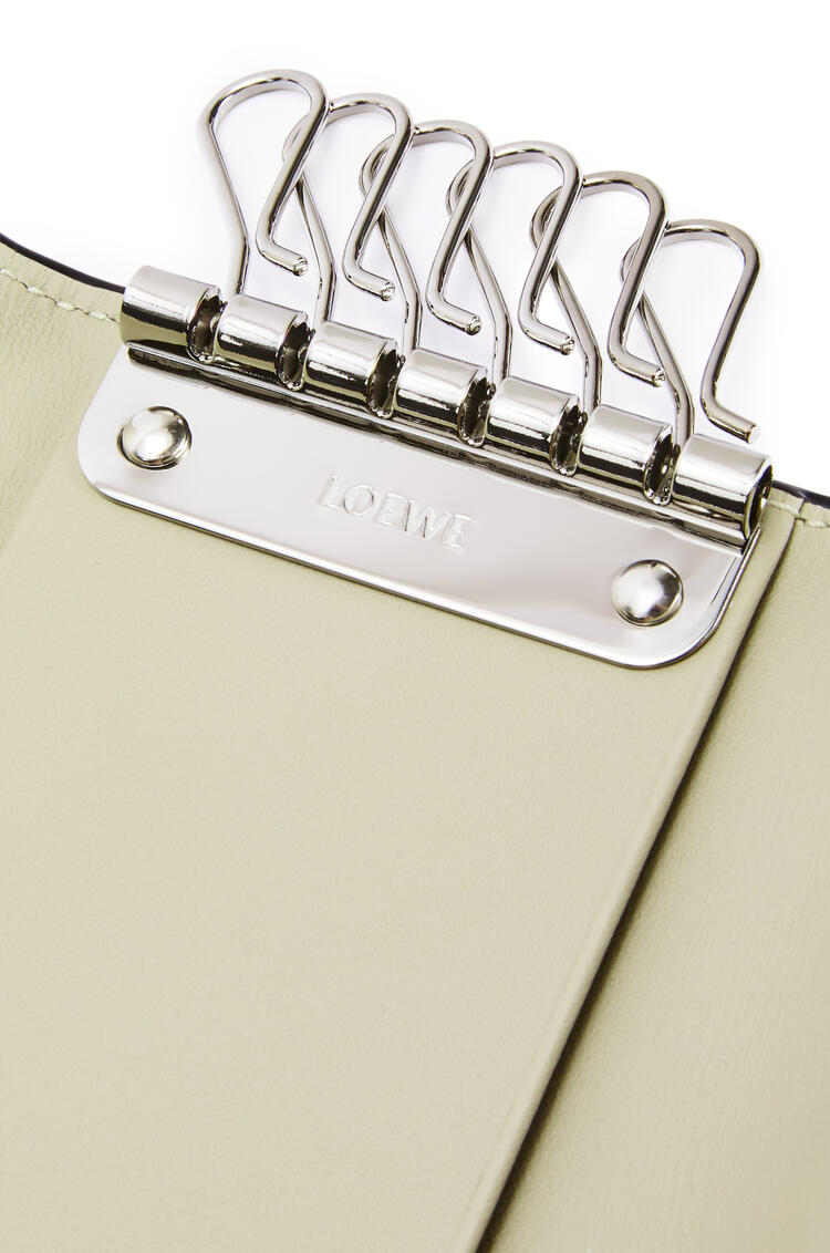 LOEWE 6 keys keyring in calfskin Light Oat pdp_rd