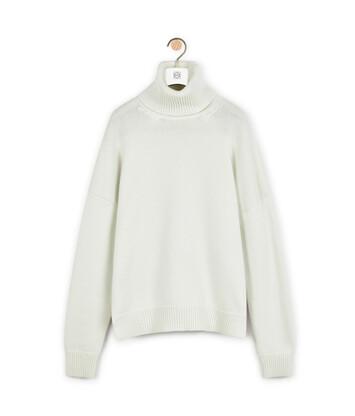 LOEWE Turtleneck Sweater Ecru front
