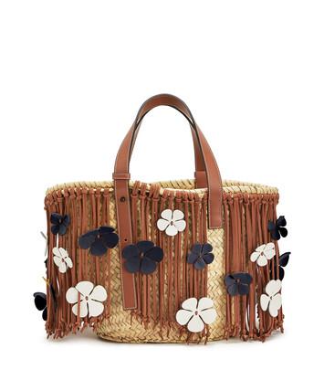 LOEWE Flower Basket Tan/Blue front