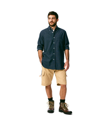 LOEWE Oxford Shirt Blue Denim front