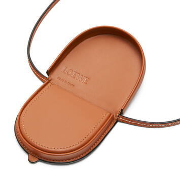 LOEWE Paula Turtle Small Heel Pouch Tan front
