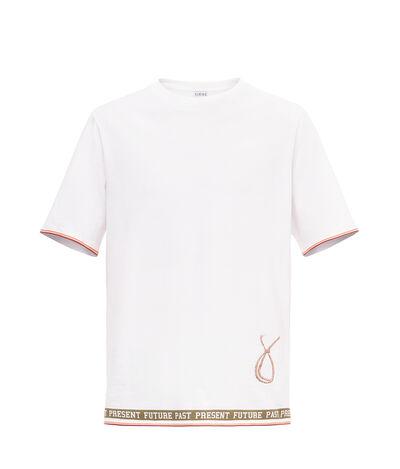 LOEWE Past Present Future T.Shirt Blanco/Multicolor front