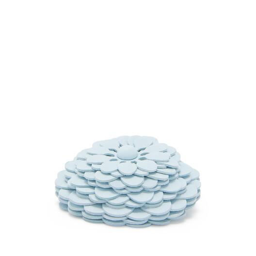 LOEWE Stud Flower Crystal Blue front