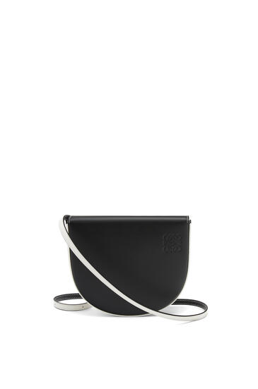 LOEWE Heel bag in soft calfskin Black/Soft White pdp_rd