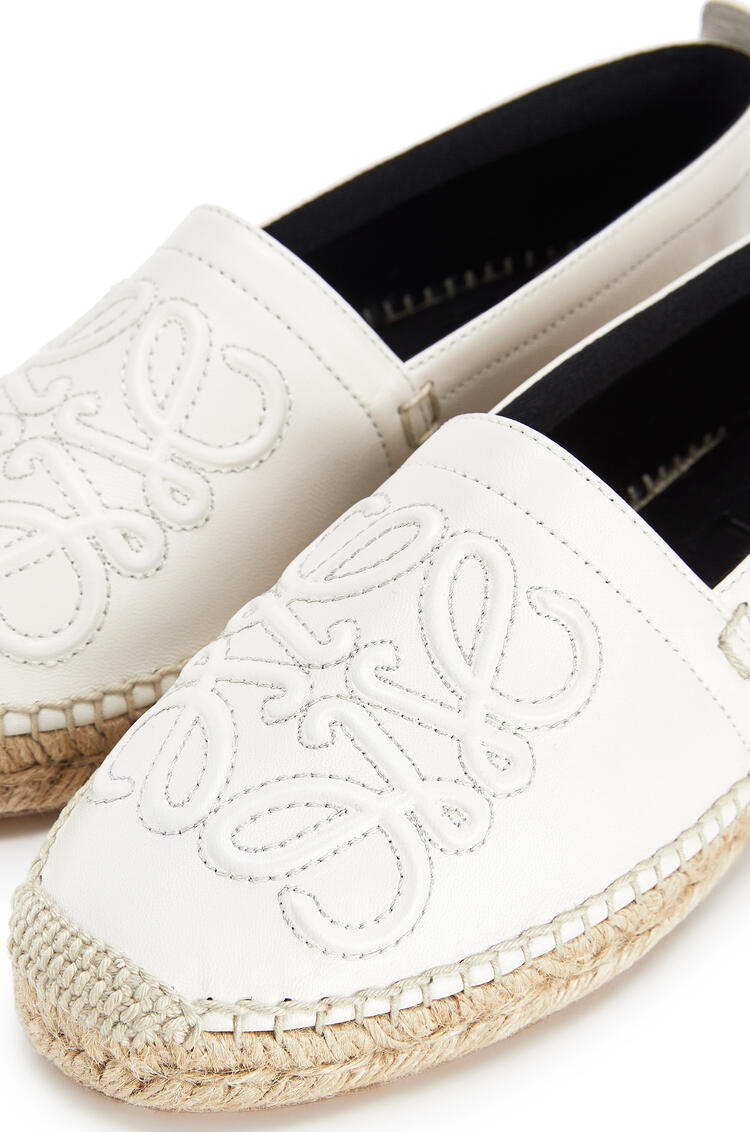LOEWE Anagram Espadrille In Lambskin Soft White pdp_rd