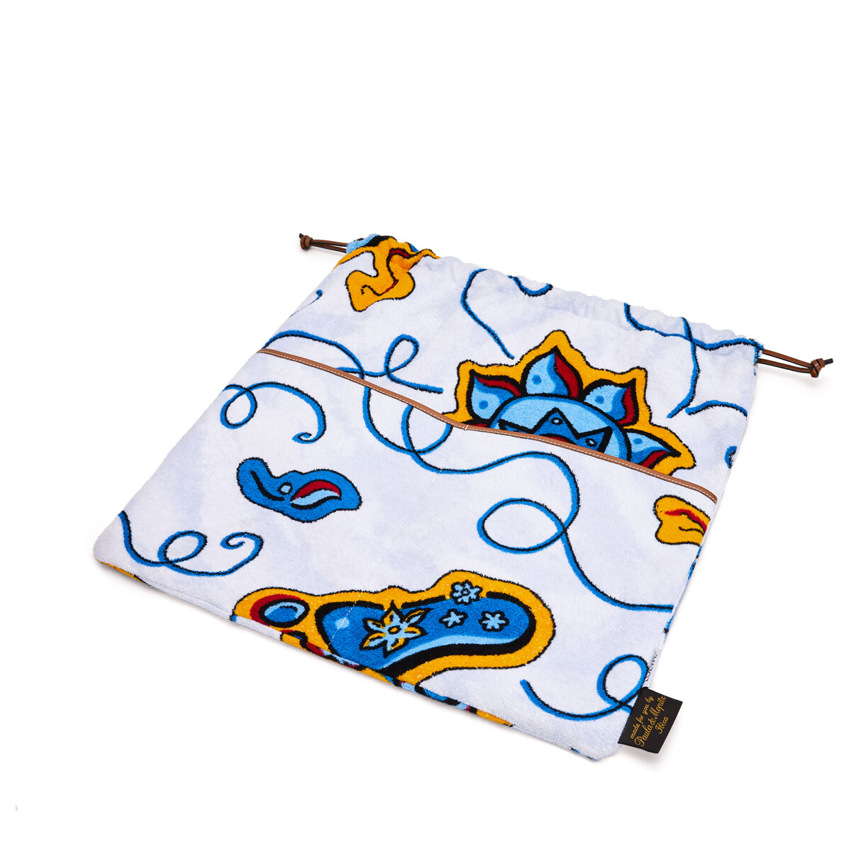 LOEWE Paula Drawstring Pouch Towel L Multicolor/Tan front