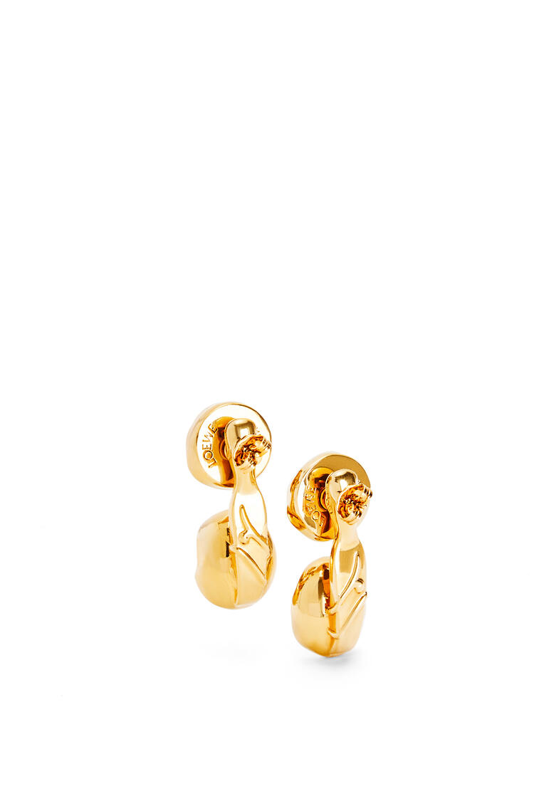 LOEWE Double Tree earrings in metal and resin White/Old Gold pdp_rd