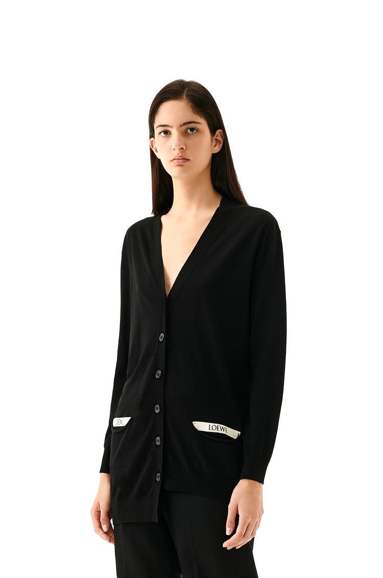 LOEWE LOEWE asymmetric cardigan in wool Black pdp_rd