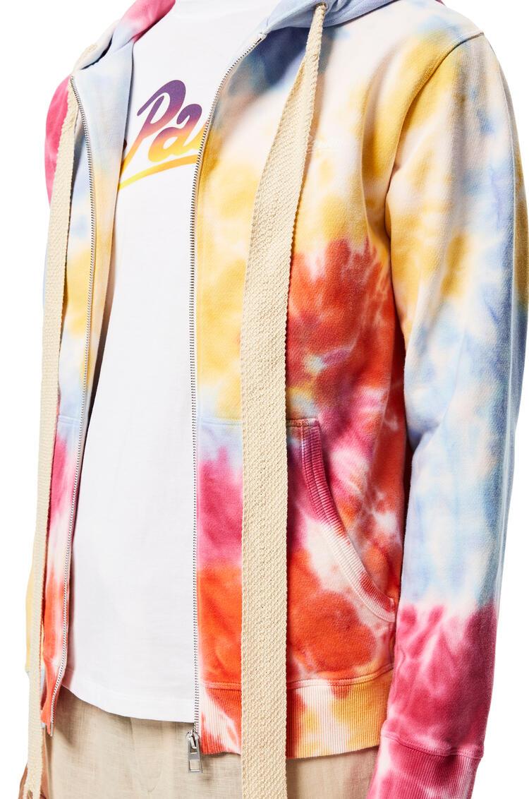 LOEWE Zip-up hoodie in tie dye cotton Multicolor pdp_rd