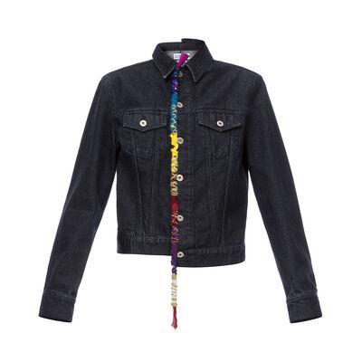 LOEWE Embroidered Knot Denim Jacket Black front