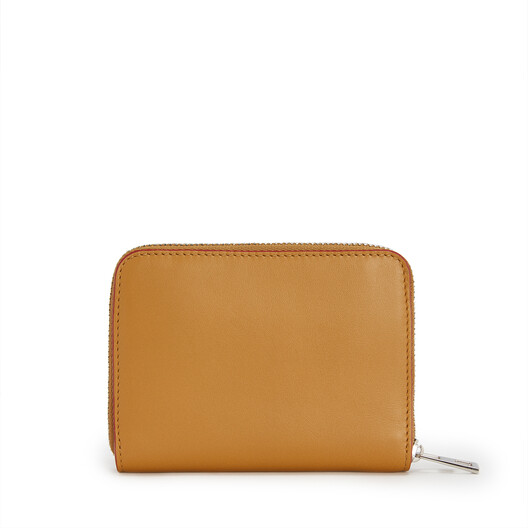 LOEWE Brand 6 Card Zip Wallet Honey front