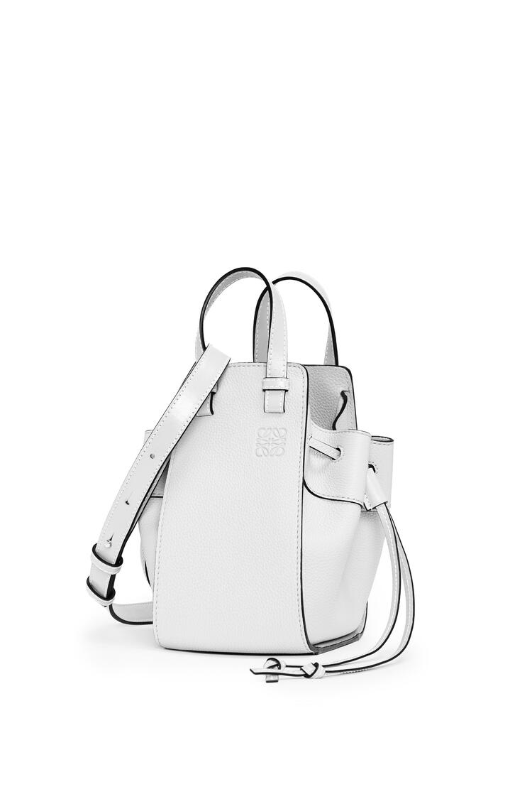 LOEWE Small Hammock Drawstring bag in soft grained calfskin Soft White pdp_rd