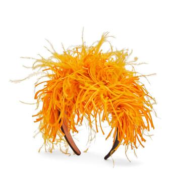 LOEWE Feathers Headband イエローマンゴー front