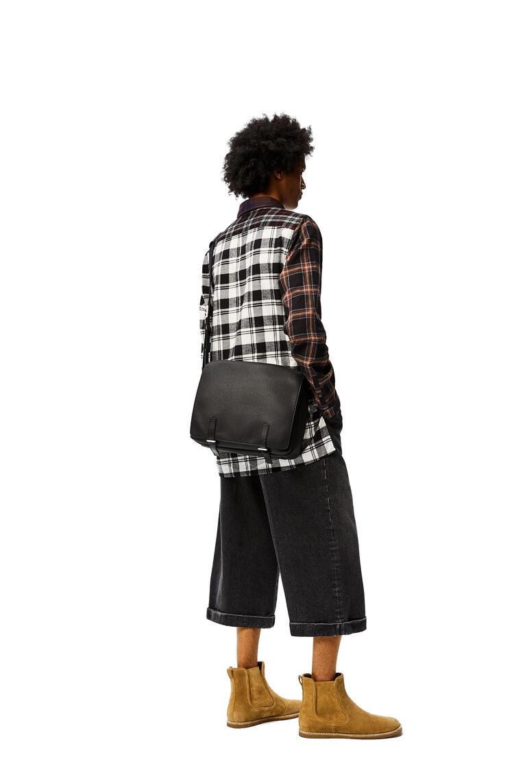 LOEWE Military Messenger Bag in soft grained calfskin Black pdp_rd