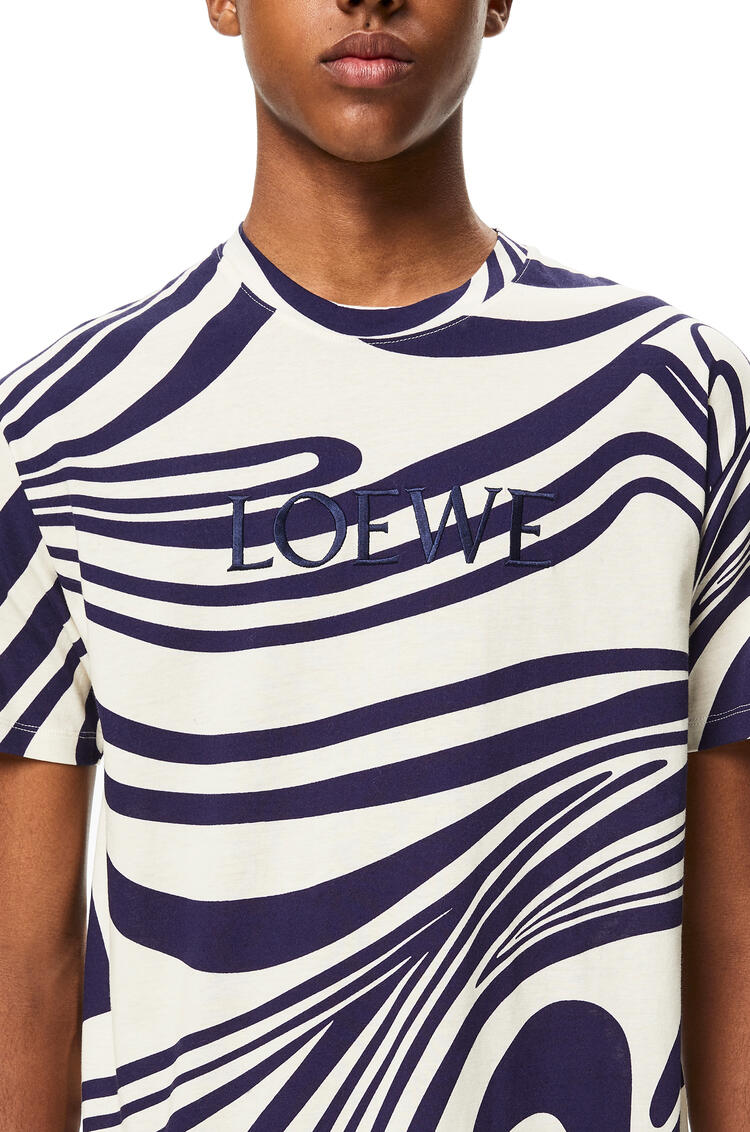 LOEWE LOEWE t-shirt in psychedelic cotton White/Navy Blue pdp_rd