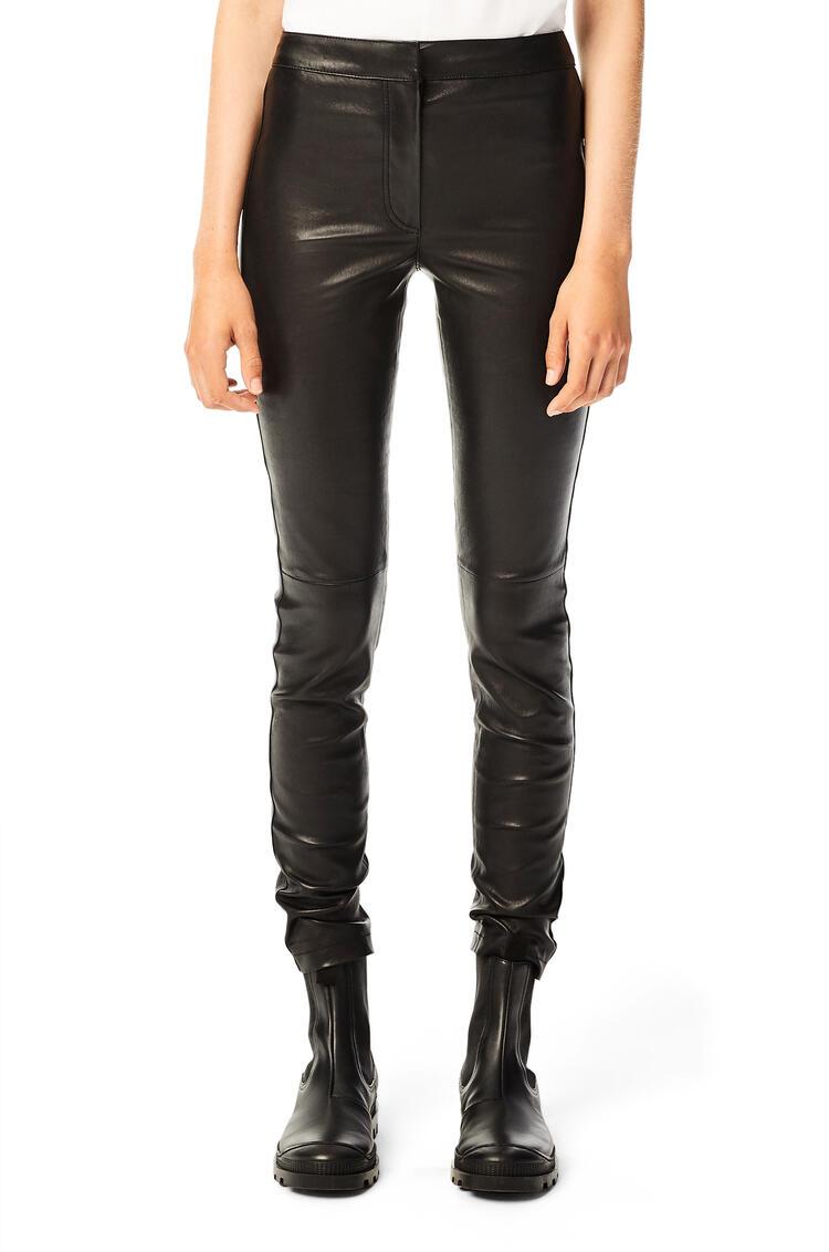 LOEWE Stretch leggings in nappa Black pdp_rd