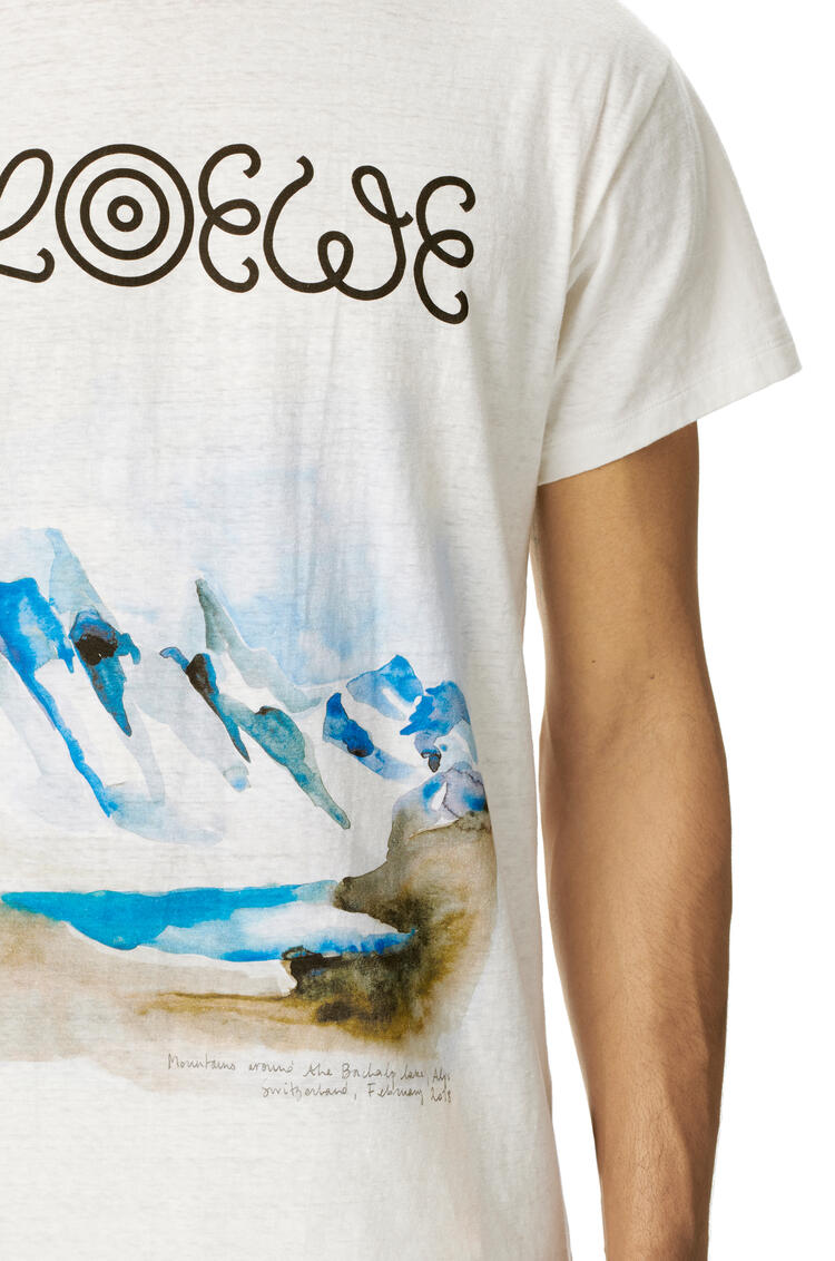 LOEWE T-shirt In Watercolor Cotton White pdp_rd